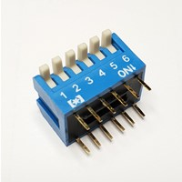 DIP Switch  6-torowy, piano RM2.54